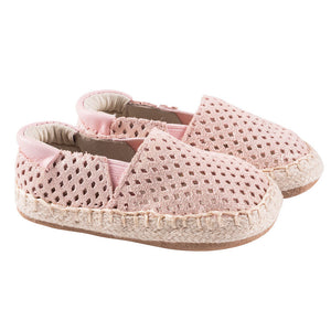 Robeez Ellie Espadrille Infant Baby Shoes - Pink