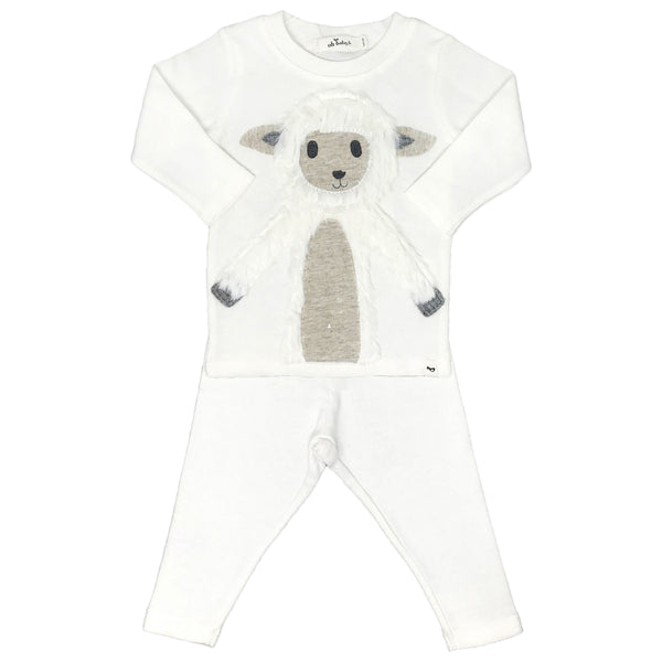 oh baby! Two Piece Set - Lamby Lamb - Cream