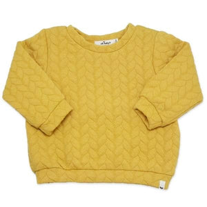 oh baby! Brooklyn Boxy Quilted Cable, Mustard