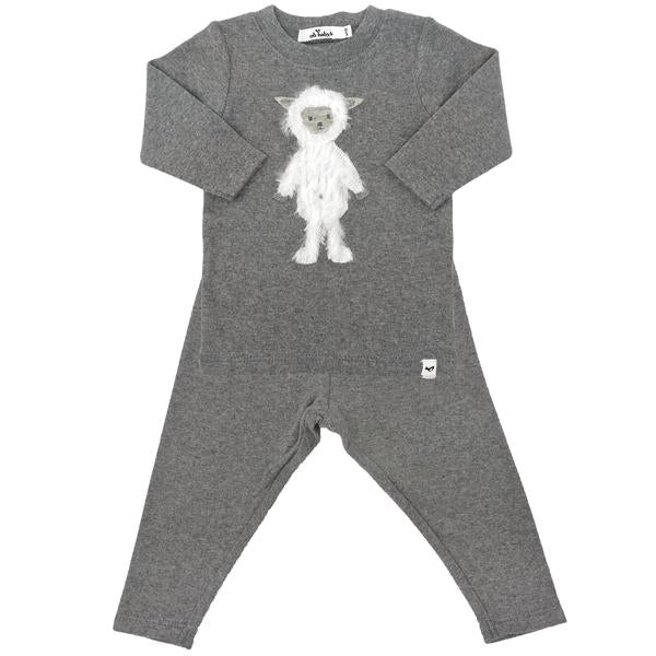 oh baby! Two Piece Set - Ragdoll Lamb - Coal