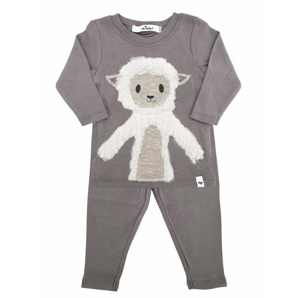 oh baby! Two Piece Set - Lamby Lamb - Gray