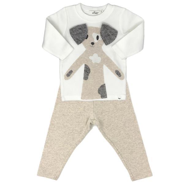 oh baby! Two Piece Set - Spot Dog Cream Mixed - Sand