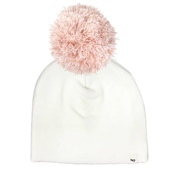 oh baby! Jumbo Pom Hat Rose Gold Stardust - Cream
