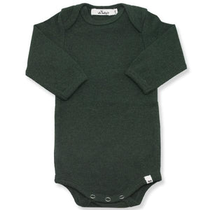 oh baby! Long Sleeve Onesie Baby Rib - Forest