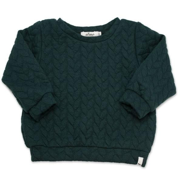 oh baby! Brooklyn Boxy Quilted Cable, Forest