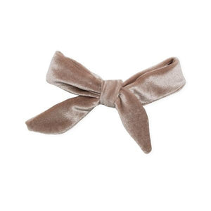 oh baby! School Girl Bow Velvet Medium Clip - Dusty Pink