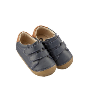 Old Soles Cast Pave Infant Baby Shoes - Navy/Tan