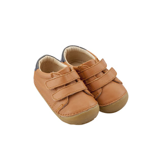 Old Soles Cast Pave Infant Baby Shoes - Tan/Navy
