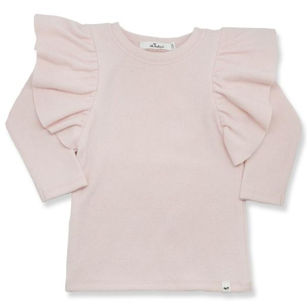 oh baby! Butterfly Sleeve Tee - Brushed Pale Pink