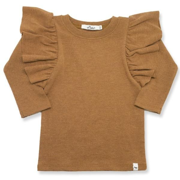 oh baby! Butterfly Sleeve Tee - Rust