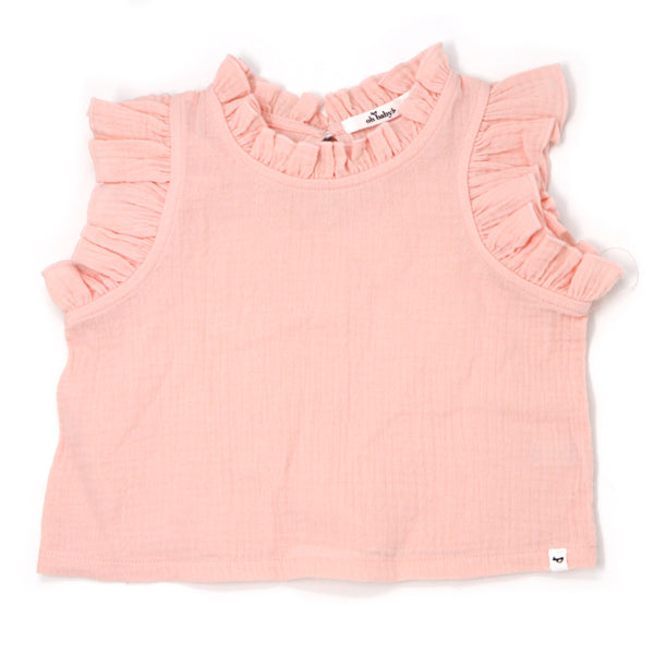 oh baby! Lola Top Gauze - Pale Pink