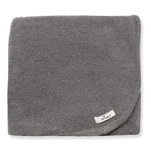oh baby! Fuzzy Knit Blanket - Gray