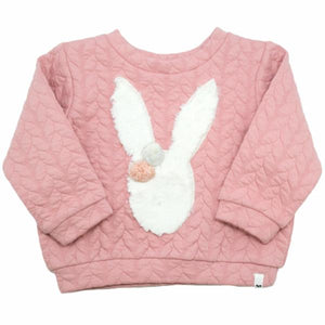 oh baby! Brooklyn Boxy Quilted Cable, Stardust Snow Bunny, Blush