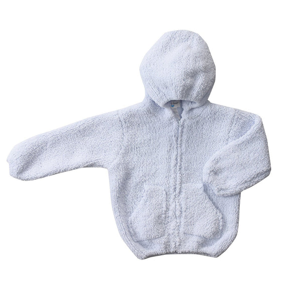 Angel Dear Chenille Infant Hoodie Jacket - Light Blue