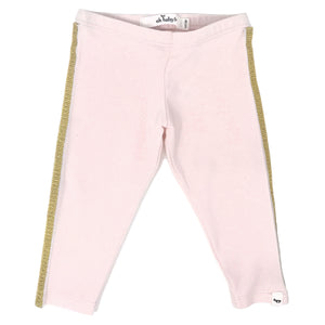 oh baby! Sport Legging Gold Stripe - Pale Pink
