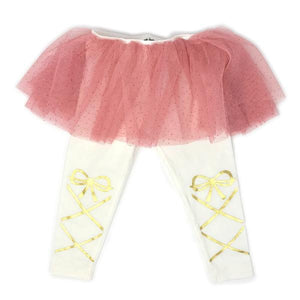 oh baby! Glinda Blush Ballerina Leggings - Cream