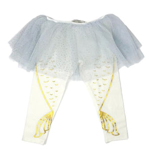 oh baby! Glinda Powder Blue Mermaid Leggings - Cream