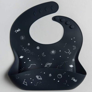 Loulou Lollipop Silicone Bib - Space Print