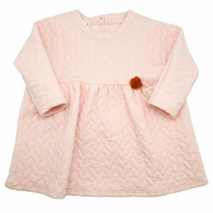 oh baby! Prairie Dress Quilted Cable, Pale Pink