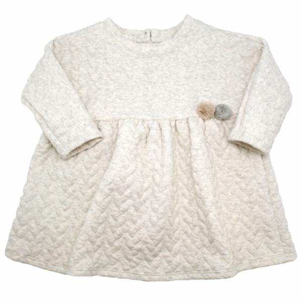 oh baby! Prairie Dress Quilted Cable, Oatmeal Heather