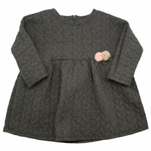 oh baby! Prairie Dress Quilted Cable, Charcoal Heather