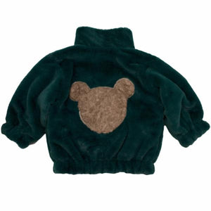 oh baby! Teddy Bear Fur Coat in Forest Green -Unisex