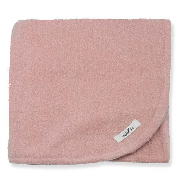 oh baby! Fuzzy Knit Blanket - Blush