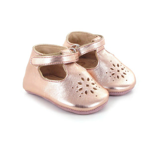 easy peasy Lillyp Infant T-Strap Shoes, Metallic Pink - oh baby!