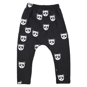 Oh Baby! NoHo Jogger Pants -  All Over Panda White Ink - Black