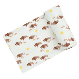 angel dear bison swaddle blanket