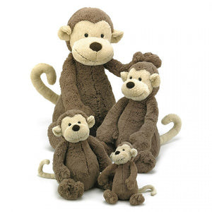 Jellycat Bashful Monkey Plush Stuffed Animal - Medium - oh baby!