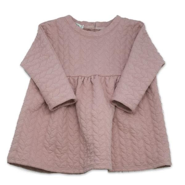 oh baby! Prairie Dress Quilted Cable, Blush