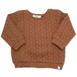 oh baby! Brooklyn Boxy Quilted Cable, Rust