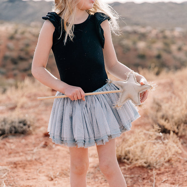oh baby! Glinda Fairy Skirt - Ivory/Gold - Misty Blue Linen