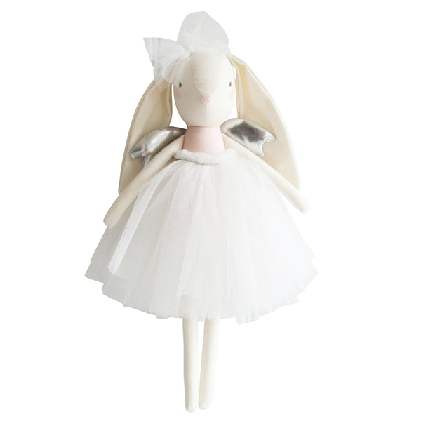 Alimrose Angel Bunny Doll - Pink and Silver - oh baby!