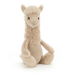 Jellycat Bashful Llama Plush Stuffed Animal - Small - oh baby!