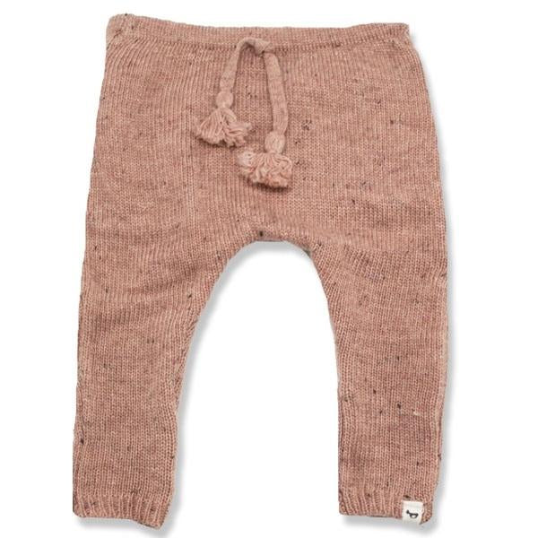 oh baby! Flat Knit Dappled Jogger, Pale Pink