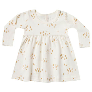 Quincy Mae Baby Dress - Tree Print - Ivory