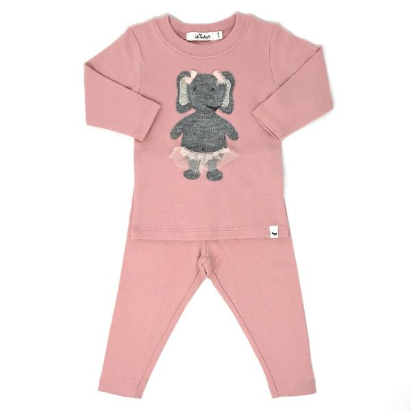 oh baby! Two Piece Set - Ballerina Elephant - Blush