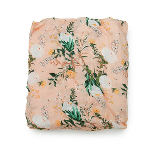 Loulou Lollipop - Fitted Crib Sheet Blushing Protea - oh baby!