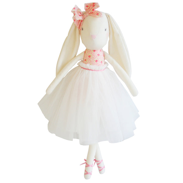 Alimose Bronte Ballet Bunny Doll - Pink and Ivory - oh baby!