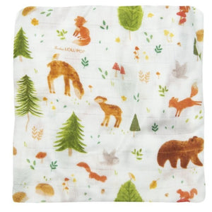 Loulou Lollipop - Fitted Crib Sheet - Forest Friends
