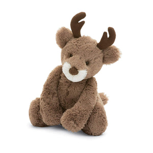 Jellycat Bashful Reindeer Plush Stuffed Animal  - Medium