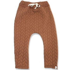 oh baby! Brooklyn Jogger Quilted Cable, Rust