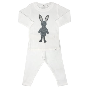 oh baby! Two Piece Set -  Rag Doll Bunny Grey-Cream
