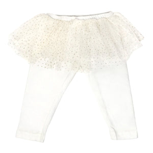 oh baby! Glinda Tushie Ivory/Gold Leggings - Cream