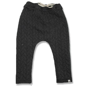 oh baby! Brooklyn Jogger Quilted Cable, Charcoal