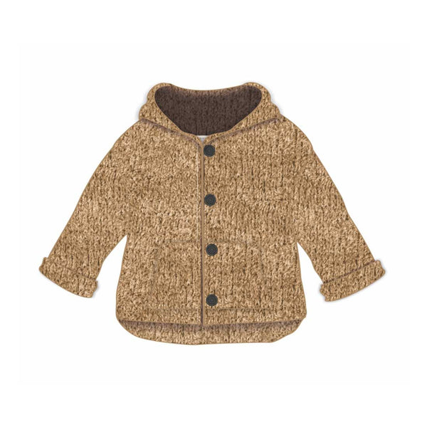 Message In The Bottle Baby Cardigan with Front Pockets - Coffeemilk - oh baby!
