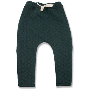 oh baby! Brooklyn Jogger Quilted Cable, Forest