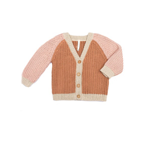 Wild Wawa Rainbow Cardigan - Pecan Old Rose